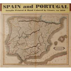 Map of Spain & Portugal, c.1820