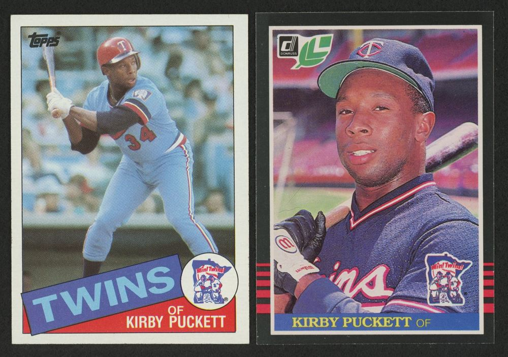 Lot Of 2 Kirby Puckett Baseball Cards With 1985 Topps 536