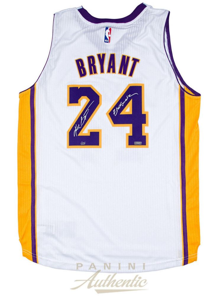 sports shoes c9655 95c33 Kobe Bryant Signed Lakers Jersey Inscribed