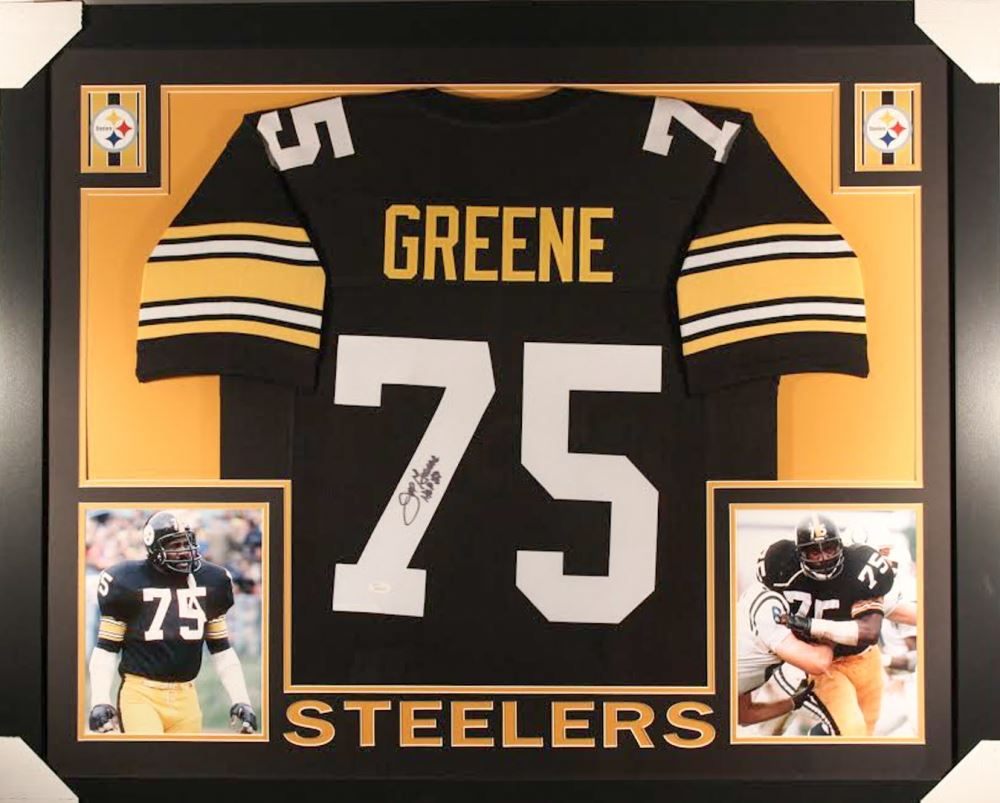 c169294c71b Image 1 : Joe Greene Signed Steelers 35x43 Custom Framed Jersey Inscribed