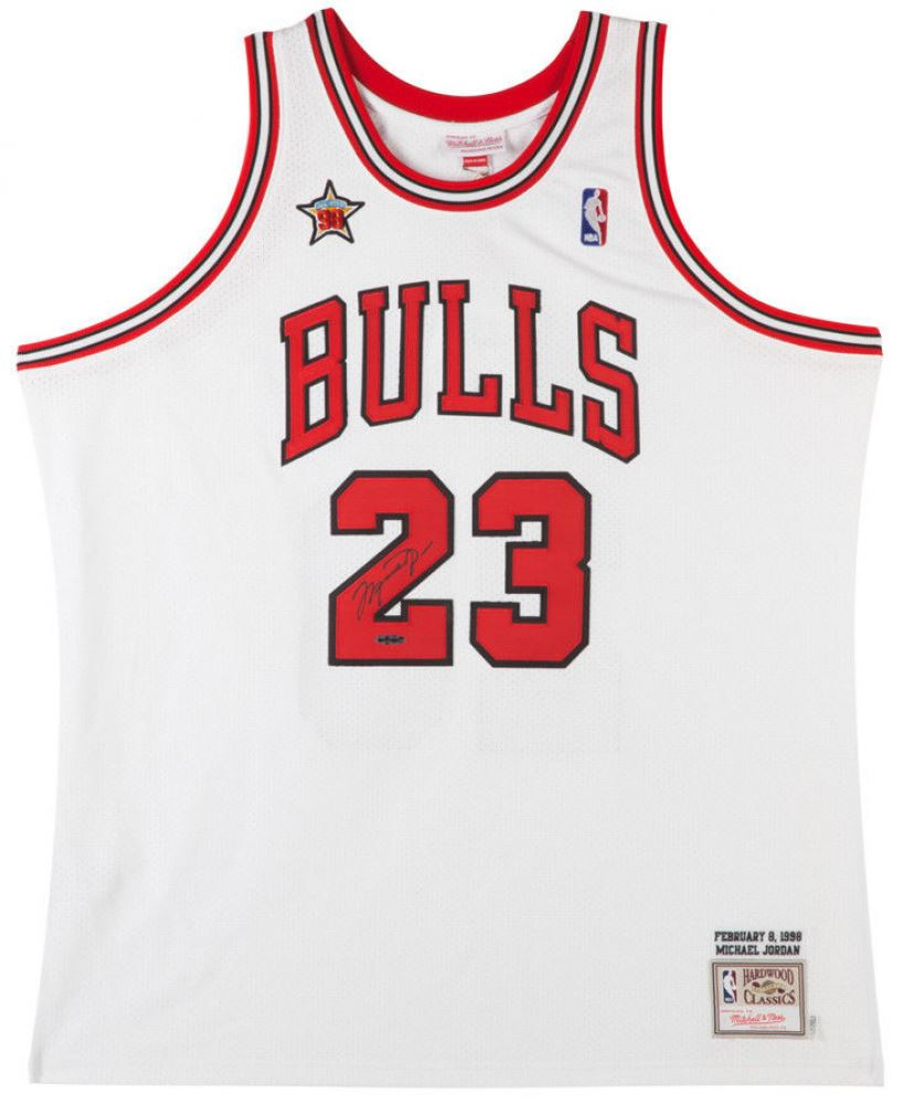 e5884b054f4 Image 1 : Michael Jordan Signed Bulls 1998 NBA All Star Authentic Mitchell  Ness Jerey (