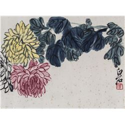 Qi Baishi 1864-1957 Chinese Watercolour Paper Roll