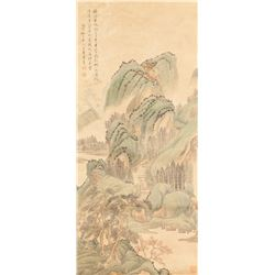 Wang Hui 1632-1717 Chinese Watercolour Landscape