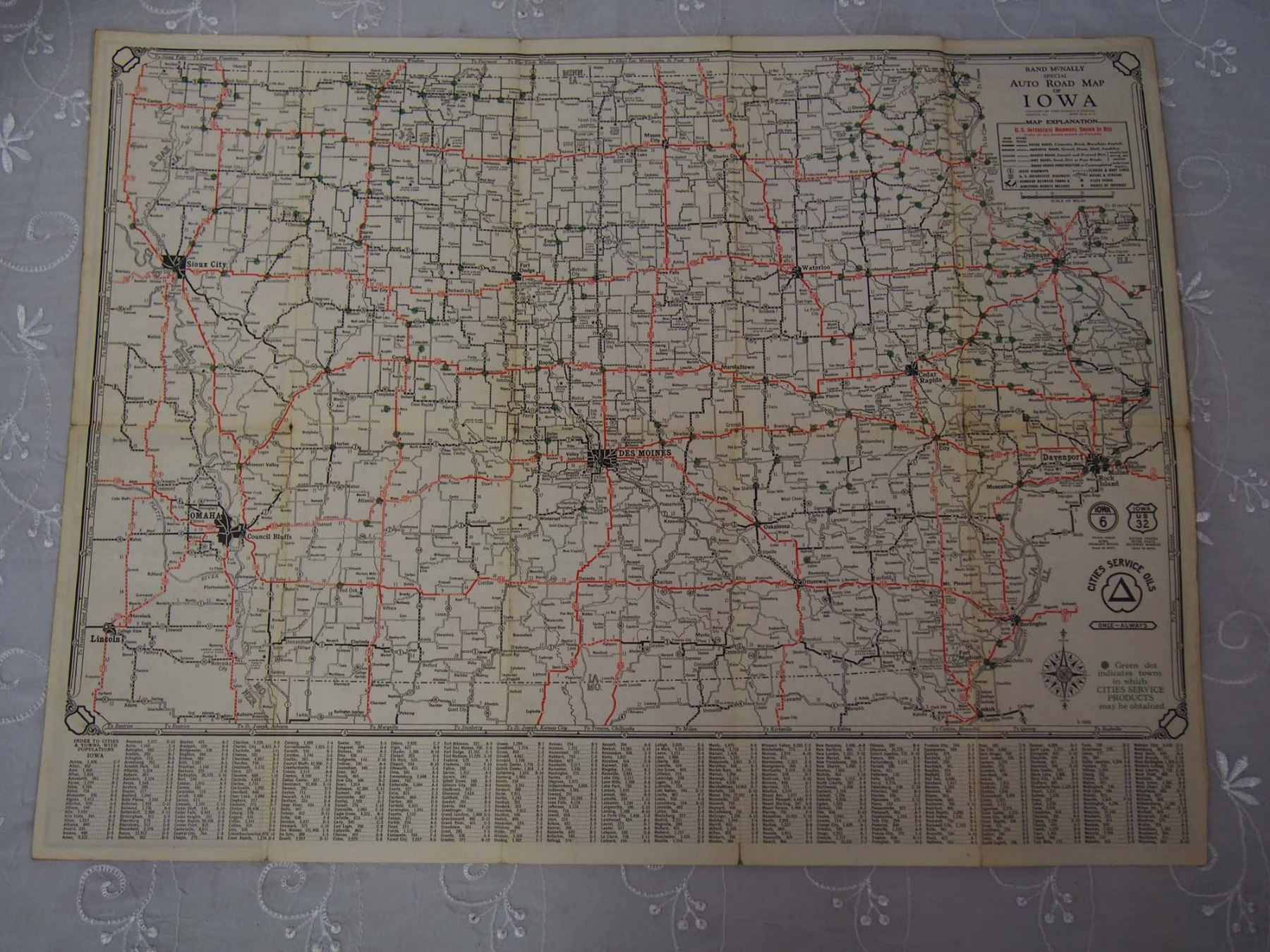 1930 Imperial Oil Road Map, Iowa Oil Co  Road Map & White Rose Road Map