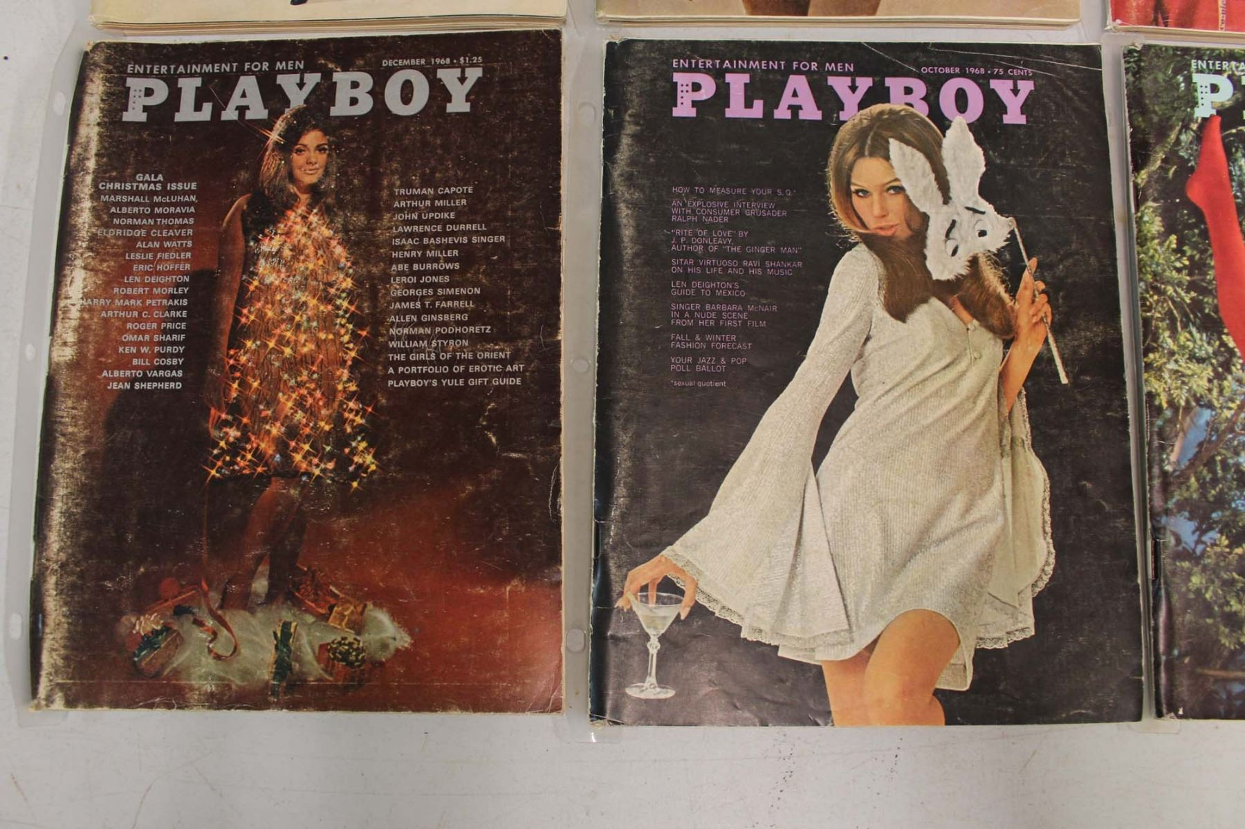 1968 Playboy Magazines (8) Jan, April, May, July, Aug, Oct, Nov& Dec