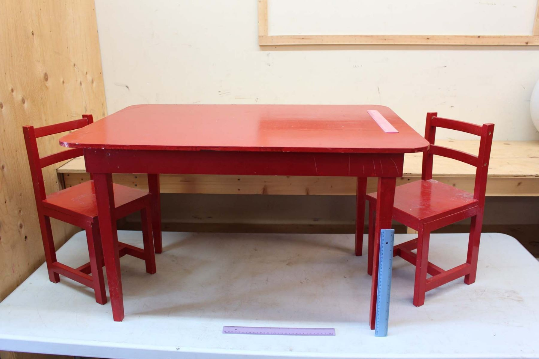 Vintage Kids Table W Chairs 2 Table 35 X24 X22
