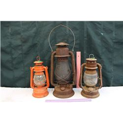 Lot Of Oil Lamp Barn Lanterns (3)