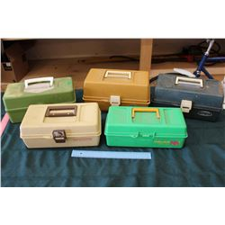 Lot Of Vintage Tackle boxes (5)