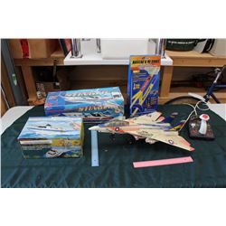 Lot Of Vintage Toys And Rocket