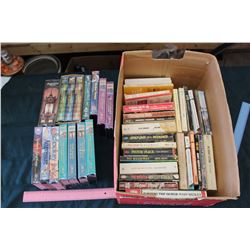 Lot Of Vintage VHS Movies And books