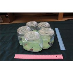 Lazy Susan With Glass Candy Jars