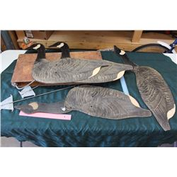 Cardboard Decoys, With Wooden Carrying Case