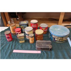 Lot Of Household Vintage Tins
