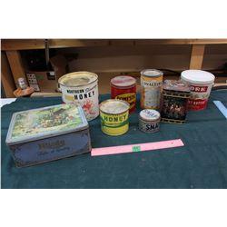 Lot of Vintage Kitchen Tins
