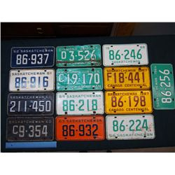 Saskatchewan License Plates (13)(1960-1969)