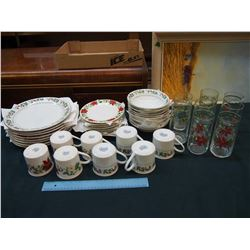 Lot of Christmas Themed Gibson Dishes (2 Sets)