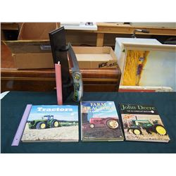 Books on Tractors (3)& A John Deere Knife w/Stand