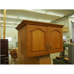 "Oak 2 Drawer Cabinet, 30""x24""x19"""