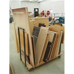 Lot Of Assorted Cupboard Doors (Cart Not Included)