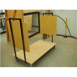 "Custom Made Heavy Duty 48"" Material Cart"