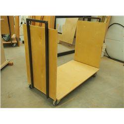 "Custom Made Reinforced 48"" Material Cart"
