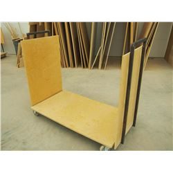 "Custom Made Reinforced 48"" Material Cart, NEEDS REPAIR"