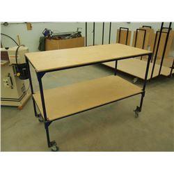 "Custom Made 2 Tiered Material Cart 60""x29"""