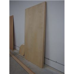 3 1/2 Sheets Of Pre Finished Birch Plywood