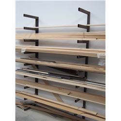 """Metal Material Rack, Bolts To Wall, 16"""" 82"""" (2 Pieces)"""