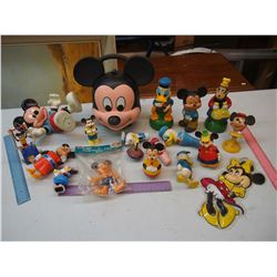 Lot of Vintage Mickey Mouse & Donald Duck Toys