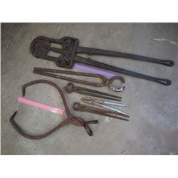 Vintage Tools: Horn Trimmer, Ice Tongs, Etc