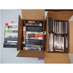 Lot of DVD's, CD's & VHS