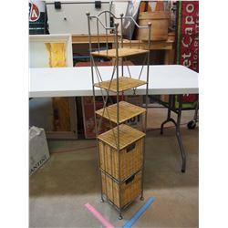 """Wicker Shelf (45"""" Tall)"""