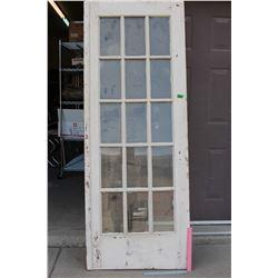 """79"""" x 30"""" Wooden Door"""