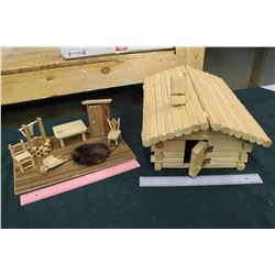 Wooden Cabin Toy Set