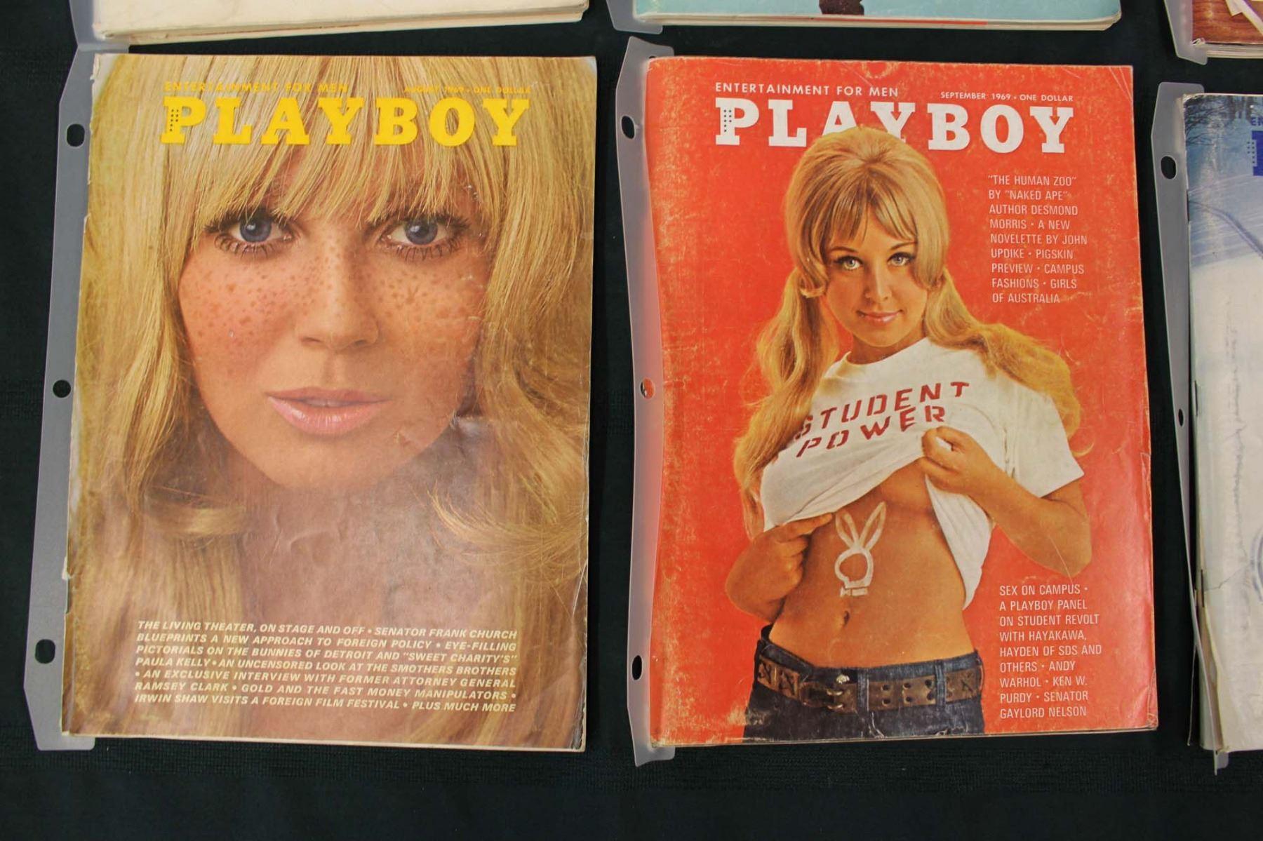 1969 Playboy Magazines (8)(Jan, March, June, July, Aug, Sept, Nov, Dec)