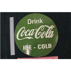 Porcelain 'Drink Coco-Cola Ice-Cold' Sign