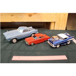 1962 Ford Falcon Tin Toy and Two Toy Cars