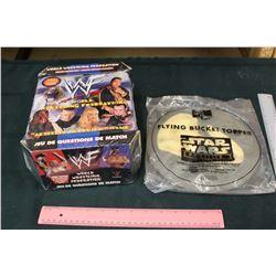 Wrestling Trivia Game and Star Wars Foam Frisbee