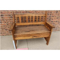 "Wooden Storage Bench (41""X35""X19"")"