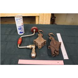 Gulfsport 40 2 Cycle Engine Oil, A Hand Drill & Pulleys (2)