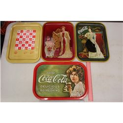 1970's-80's Coco-Cola Trays (4)