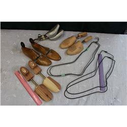Lot of Vintage Shoe & Sock Stretchers