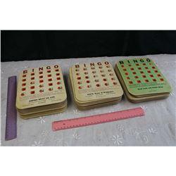 Lot of Advertising Bingo Cards
