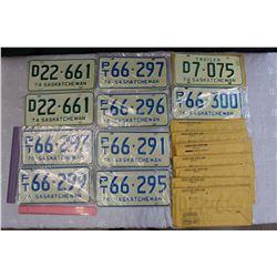Lot of Uncirculated Saskatchewan License Plates