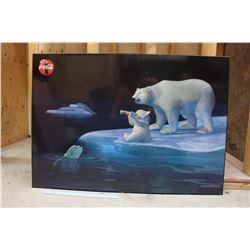 Coco-Cola Polar Bear Sign