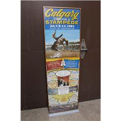 Framed 1963 Calgary Stampede Poster