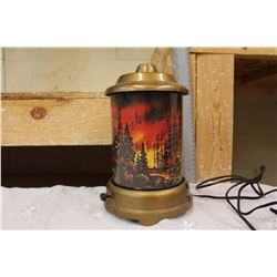 1950 Forest Fire Motion Lamp (Working)
