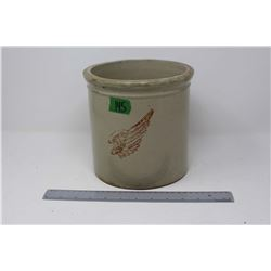 Vintage One Gallon Red Wing (Large Wing) Crock