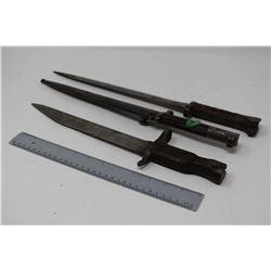 Lot of Vintage Bayonets (3)